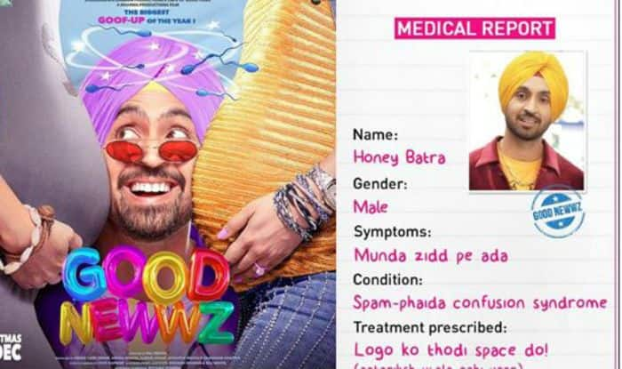 Good Newwz: Diljit Deals With 'Spam-Phaida Confusion Syndrome', Check His Medical Report