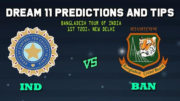 india vs bangladesh 2019 1st t20i dream11