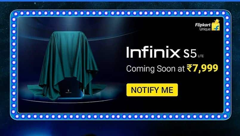 Infinix S5 Lite with punch-hole display to launch soon on Flipkart at Rs 7,999