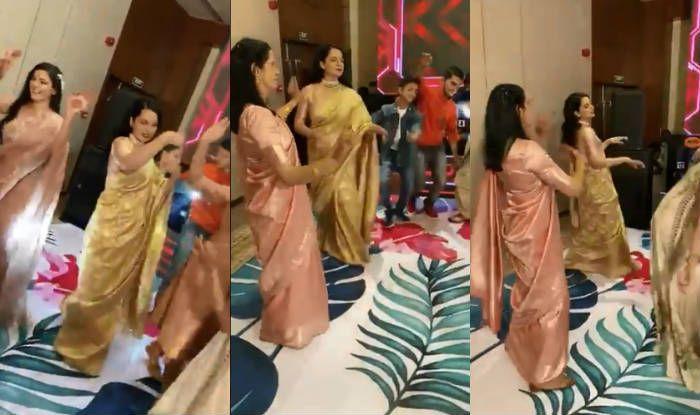 Kangana Ranaut Performs Pahadi Folk Dance Nati With Rangoli Chandel And Others at Her Brother's Engagement – Viral Video
