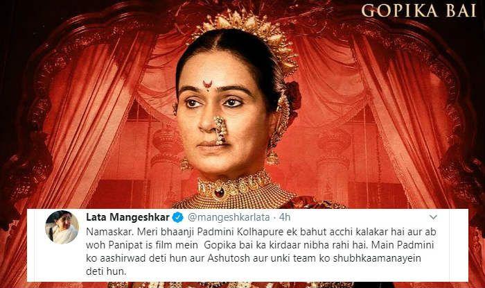 Lata Mangeshkar Sends 'Aashirvaad' to 'Bhaanji' Padmini Kolhapure For Playing Gopika Bai in Arjun Kapoor's Panipat