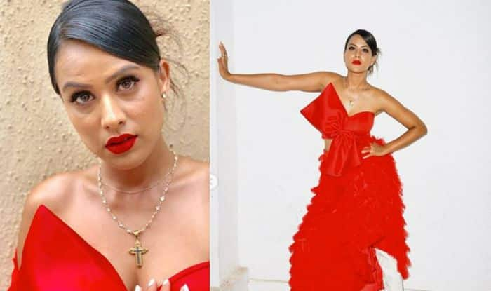 Nia Sharma Proves She is a True Fashion Icon, Wears Red Tube Dress With White Boots
