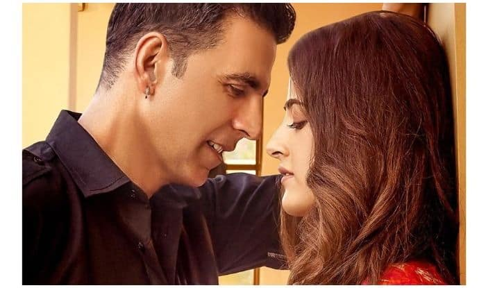 Akshay Kumar and Nupur Sanon on Filhaal's poster