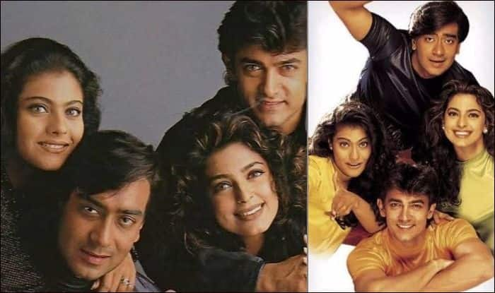 Juhi Chawla shares throwback pictures with Kajol, Ajay Devgn and Aamir Khan to celebrate 22 years of Ishq