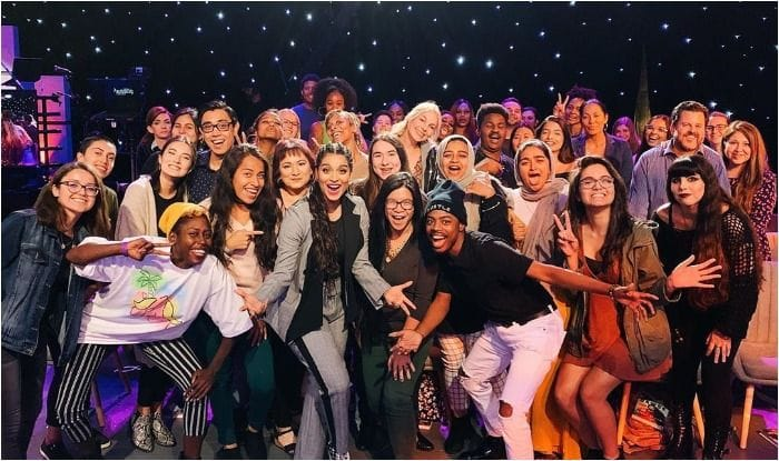 YouTube sensation with the live audience of NBC's chat show, A Little Late With Lilly Singh