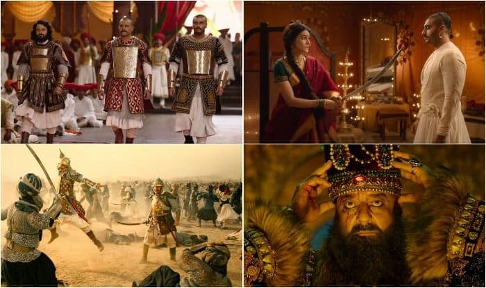 Stills from the trailer of Panipat - The Great Betrayal