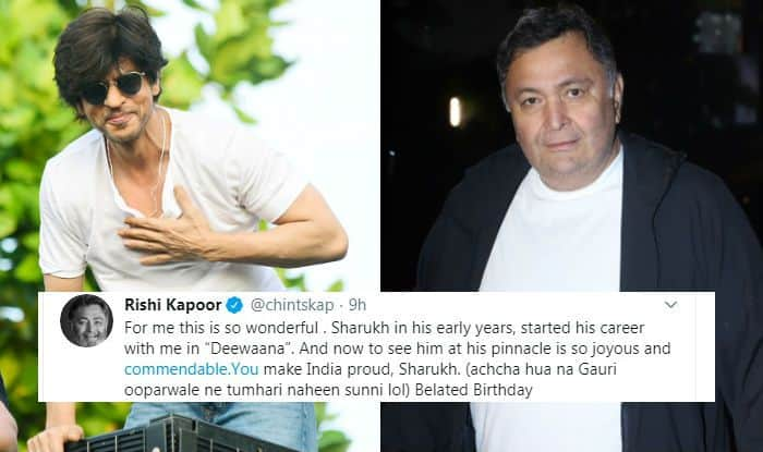 """""""You Make India Proud"""", Rishi Kapoor Echoes Emotions of Every SRK Fan by Writing Heartfelt Note to Shah Rukh Khan"""