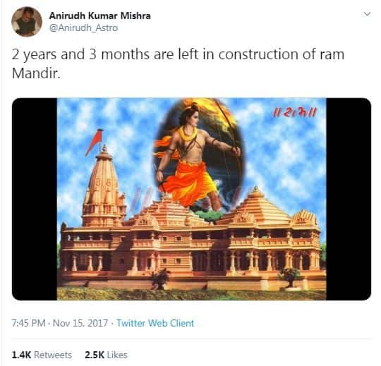Ayodhya Verdict: Why Everyone on Twitter is Congratulating this Astrologer