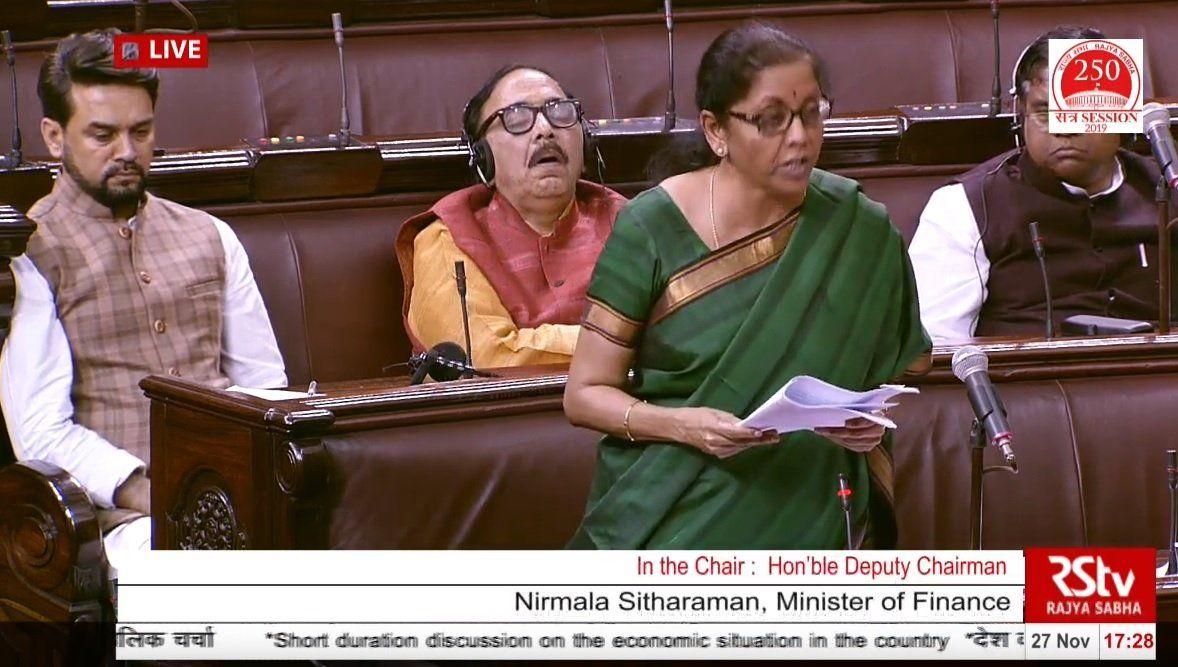 Viral Video | Minister Dozing Off in Rajya Sabha as Nirmala Speaks
