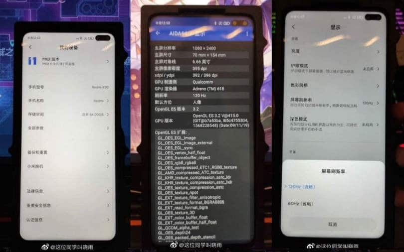 Redmi K30 5G leaked real life photos show off dual punch hole cameras, 120Hz display refresh rate