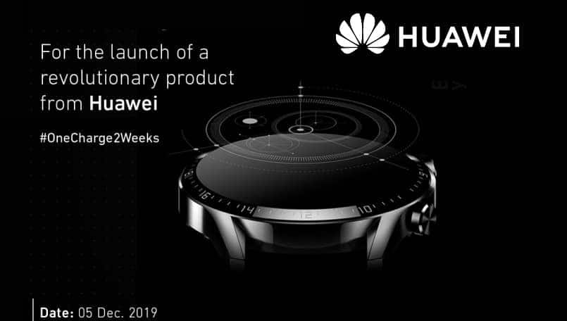 Huawei Watch GT 2 confirmed to launch in India on December 5