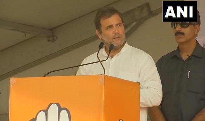Congress leader Rahul Gandhi in Jharkhand. Photo: ANI