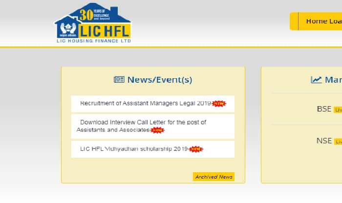 LIC HFL Recruitment 2019: Registration Begins, Apply Now For Assistant Manager Legal Posts on Official Website at lichousing.com