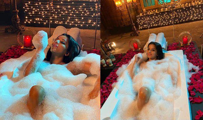 Bhojpuri Bombshell Monalisa Looks Sexy Beyond Words in Her Bathtub Pictures on Instagram