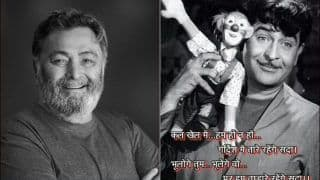 Rishi Kapoor Smears Twitter With Nostalgia on Raj Kapoor's Birthday, Iconic Picture From 'Mera Naam Joker' Goes Viral