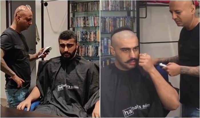Arjun kapoor drops another preparation video from salon as he goes bald to fit into Sadashiv Rao Bhau's character
