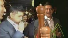 WATCH: Dhoni Does The Unthinkable, Tries to Whistle Using Spring Onions