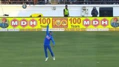WATCH! Pandey Takes a One-Handed Screamer to Send Warner's Packing