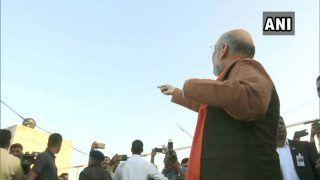 VIDEO: अहमदाबाद पहुंचे बीजेपी अध्यक्ष अमित शाह यूं नजर आए पतंग उड़ाते