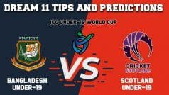 Dream11 Team Prediction Bangladesh Under-19 vs Scotland Under-19: Captain And Vice Captain For Today ICC Under-19 Cricket World Cup 2020 Group C Match 10 BD-U19 vs SCO-U19 at Witrand Cricket Field in Potchefstroom 1:30 PM IST January 21