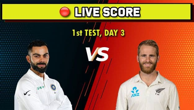1st Test Live: India vs New Zealand, Day 3