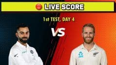 Live Score, India vs New Zealand, 1st Test, Day 4: New Zealand Pacers Send Indian Middle-Order Packing Early on Day 4