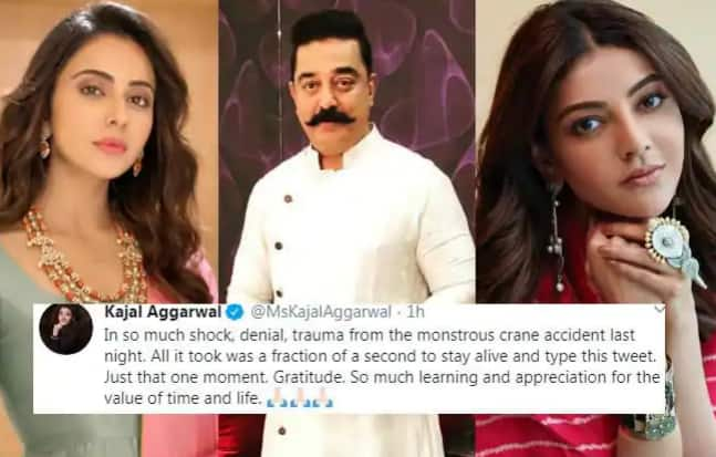 Indian 2 Accident: Kamal Haasan-Rakul Preet Singh Tweet, Kajal Aggarwal Narrowly Escapes Death