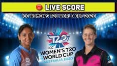 LIVE SCORE, T20 World Cup, India vs New Zealand: Chances Galore for Shafali Verma as India Off to A Solid Start