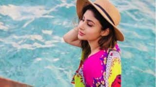Mouni Roy Shares Sultry Throwback Pictures From Maldives in Multicolour Kimono