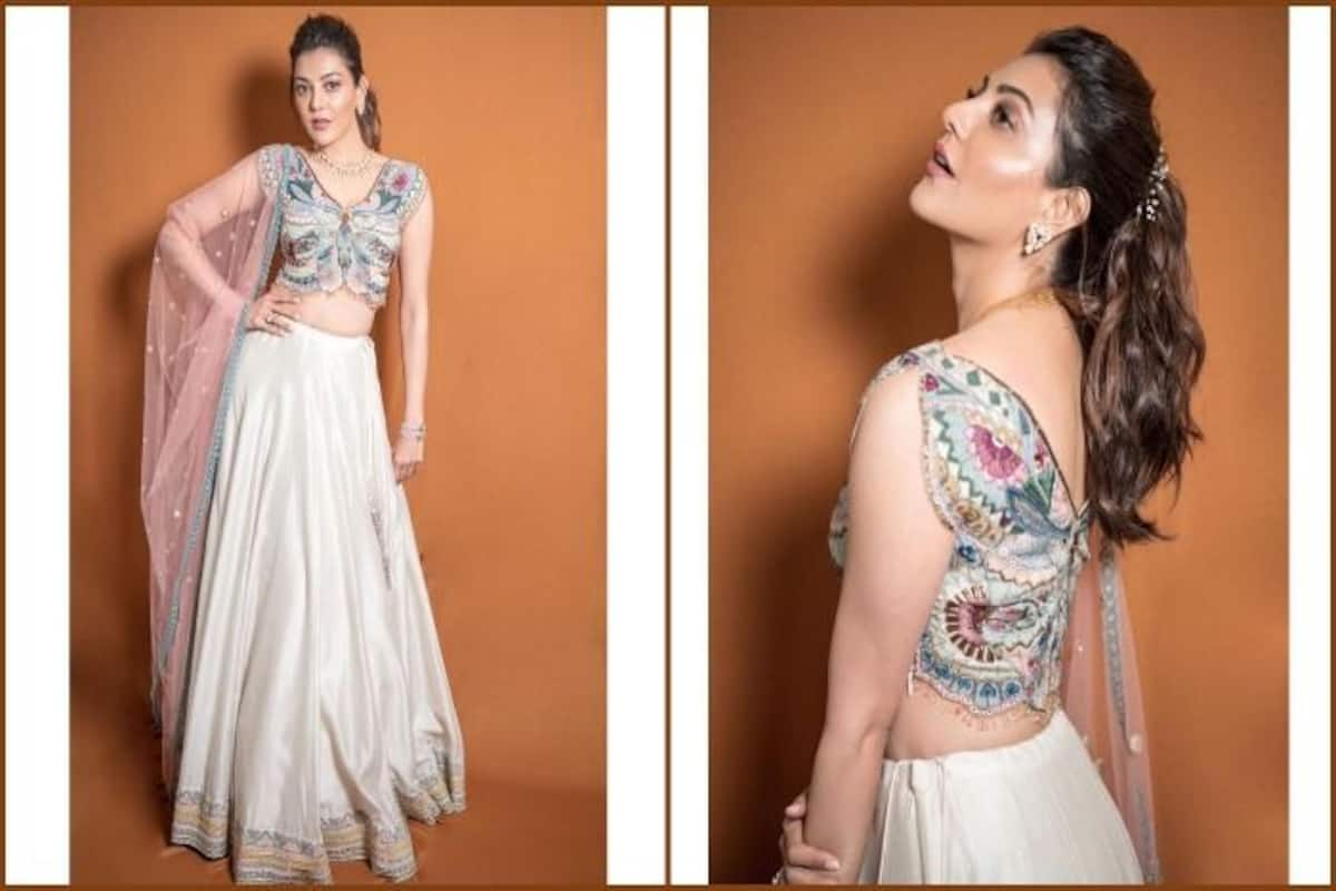 Kajal Aggarwal S Hotness Quotient In Lehenga With Butterfly Blouse Leaves Fashion Police Swooning India Com
