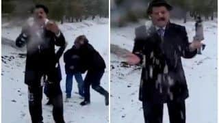 TV Weatherman Playfully Attacked with Snowballs While Reporting, Adorable Video Goes Viral
