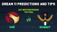 ACC Western Region T20 Dream11 Team Prediction United Arab Emirates vs Kuwait