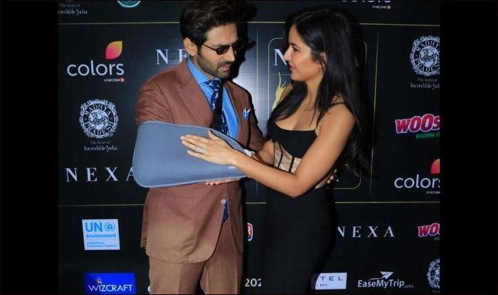 Katrina Kaif makes Kartik Aaryan touch her feet after