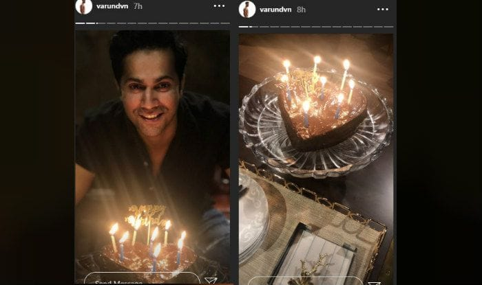 Varun Dhawan cuts his birthday cake