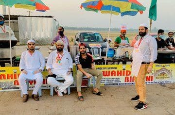 Wahid Biryani stall in Lucknow