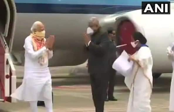 Cyclone Amphan LIVE Updates: PM Modi Reaches West Bengal to Take Stock of Ground Situation, Meets Mamata at Airport