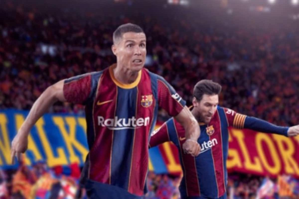 Cristiano Ronaldo In Barcelona Jersey Fan Made Images And Hd Wallpapers Go Viral After Transfer Rumours Juventus Football News