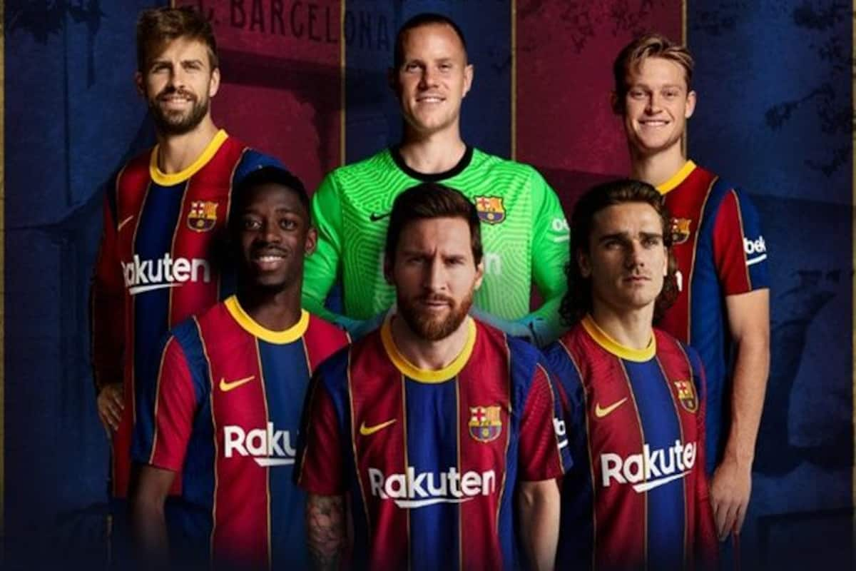 Lionel Messi Transfer News Barcelona Trolled For Showing Messi Modelling New Kit Football News Laliga