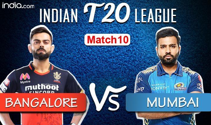 IPL 2020: Royal Challengers Bangalore Score 201/3 Versus Mumbai Indians
