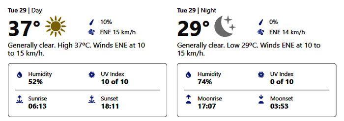 September 29 weather abu dhabi