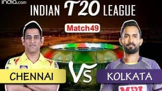 LIVE IPL 2020 CSK vs KKR Scorecard, IPL Today's Match Live Score And Updates Online Match 49: Watson Back, Dhoni Wins Toss as Chennai Opt to Bowl vs Kolkata