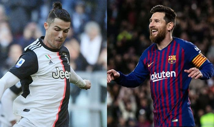 uefa champions league draw it is messi vs ronaldo once again as barcelona gets drawn with juventus in group g uefa champions league draw it is messi