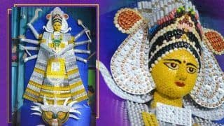 Assam Artist Creates Durga Idol With Expired Medicines, Injection Vials