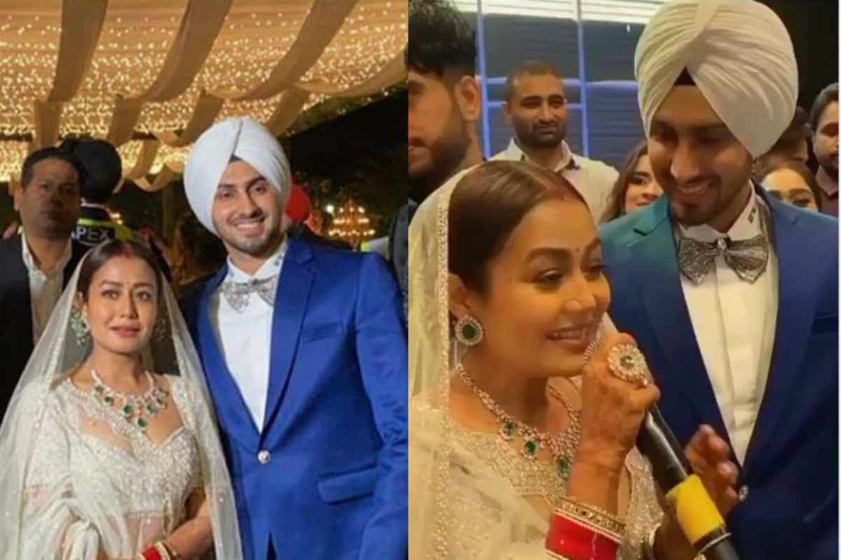 Neha Kakkar-Rohanpreet Singh's First Look From Chandigarh Reception Out: Newly Married Dance, Sing For Each Other | India.com