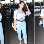 Nora Fatehi Opts For Rs 2.3 Lakh Accessories to Add Oomph to Her Airport Look in Satin Shirt And Boyfriend Jeans