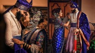 This New-Age Bride Wore a Blue Saree With Silver Jewellery For Her Wedding And Made Everyone's Jaws Drop, See Pics Here