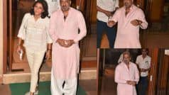 Sanjay Dutt Returns Home With Sister Priya Dutt From Hospital After Beating Lung Cancer | See Pics