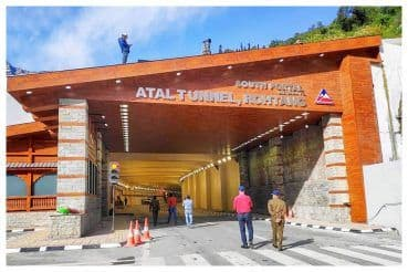 With 5,450 Vehicles Crossing From Both Ends, Atal Tunnel Witnesses Highest Single-Day Traffic