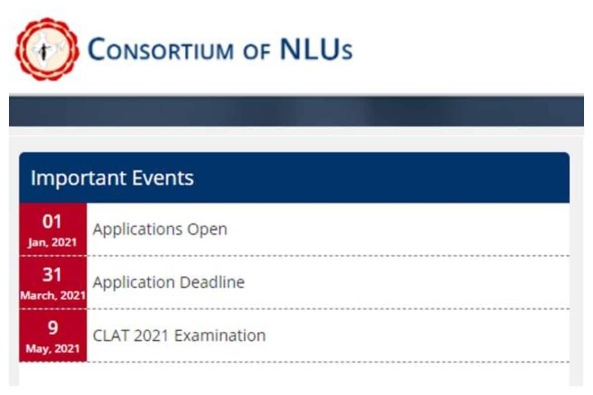 CLAT 2021 Application Process to Begin From 1st January at consortiumofnlus.ac.in, Check Details Here