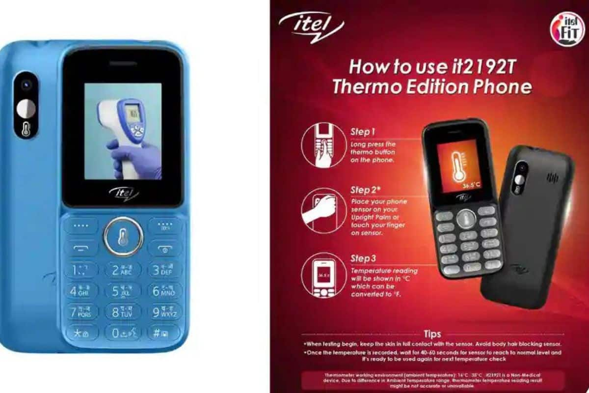 Itel Launches it2192T Thermo Edition Phone With Body Temperature Measuring Feature